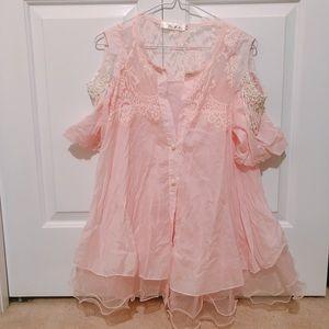 Beautiful lace pearl dress